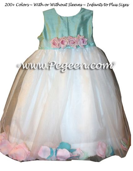 Infant - Flower Girl Dress Style 333 shown in Aqualine - one of 200+ colors