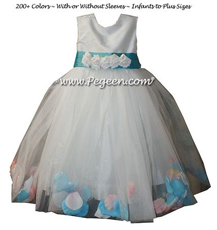 Flower Girl Dress Style 333 - shown in bahama breeze - one of 200+ colors