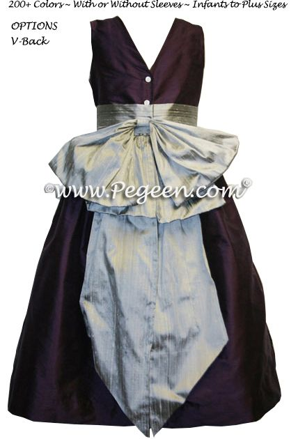 Flower Girl Dress Style 345 in 1000 Nights and Silver Grey - one of 200+ colors