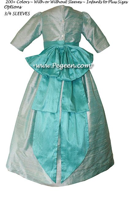 Flower Girl Dress Style 345 - in Sea Side and Bermuda - one of 200+ colors