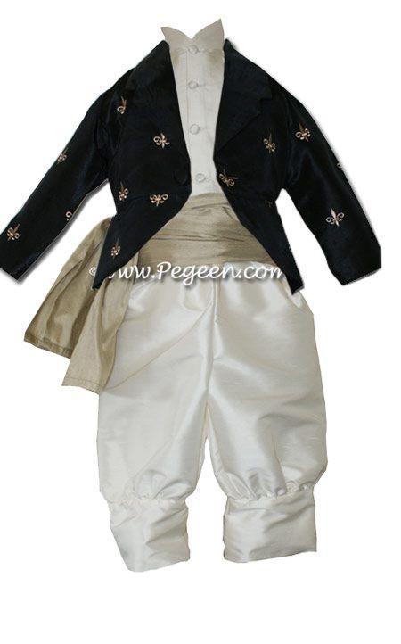 Boys Style 512 - Boys Suit, Sash, Embroidered Jacket