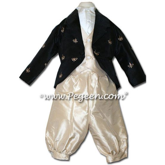 Boys Style 590 - Boys Suit with Vest, Embroidered Jacket