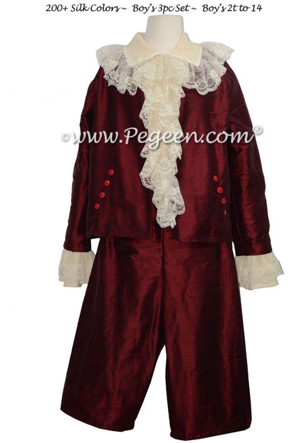 Boys Style 597 - Ring Bearer Suit or Breeches, Pirate Shirt, Jabot, Jacket for NUTCRACKER NEPHEW