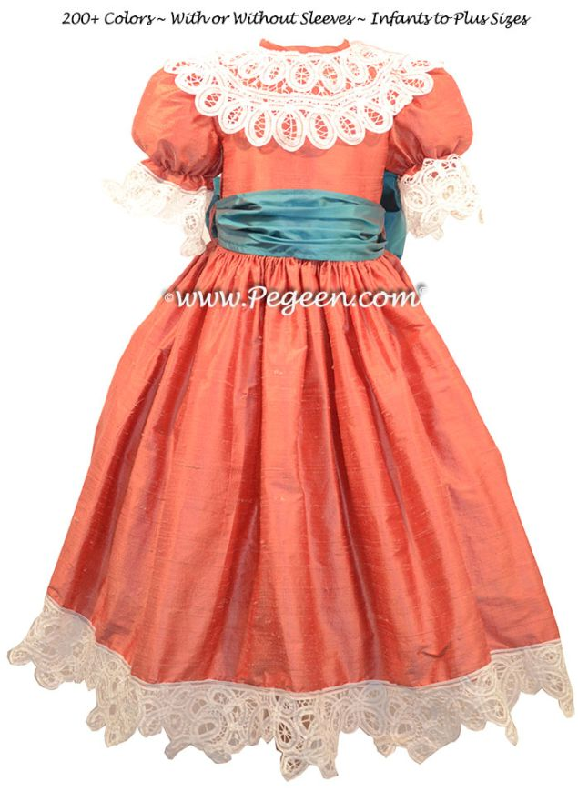 Nutcracker Dress Style 708 shown in spice and baltic