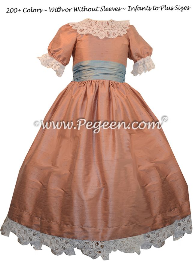 Nutcracker Dress Style 708 shown in rum pink and caribbean