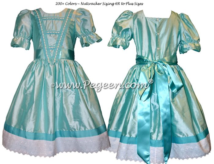 728 RIBBON AND BRAID TRIMMED PARTY SCENE DRESS