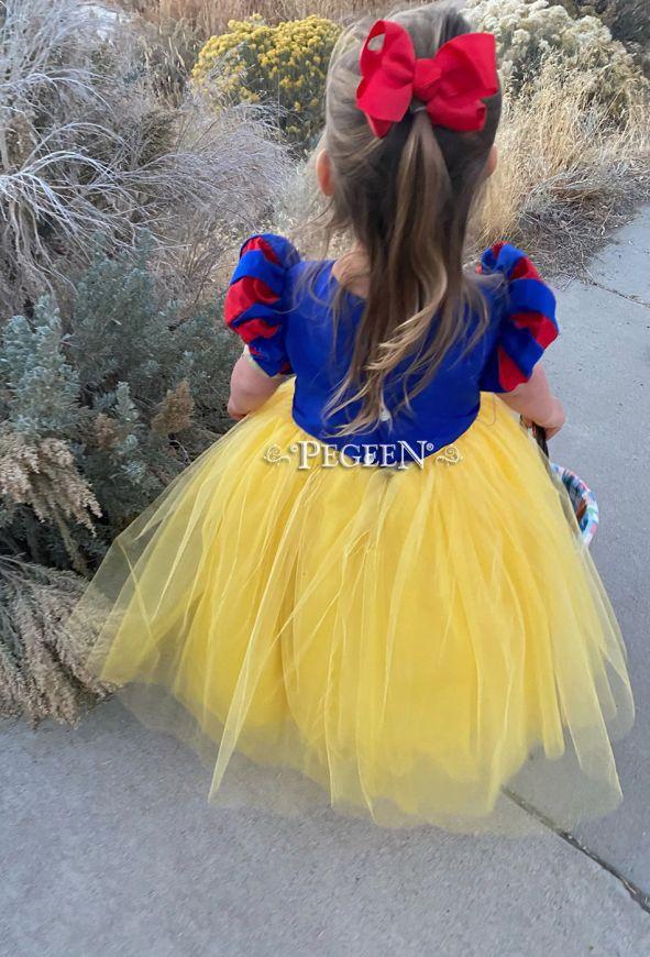 Snow White Dress - Silk Flower Girl Dress Style 807