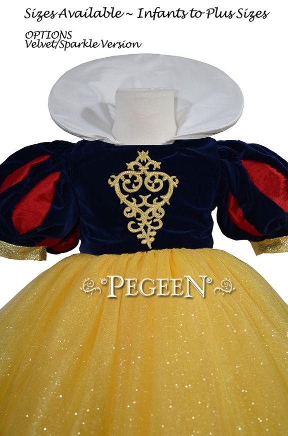 Snow White Dress - Velvet Flower Girl Dress Style 807