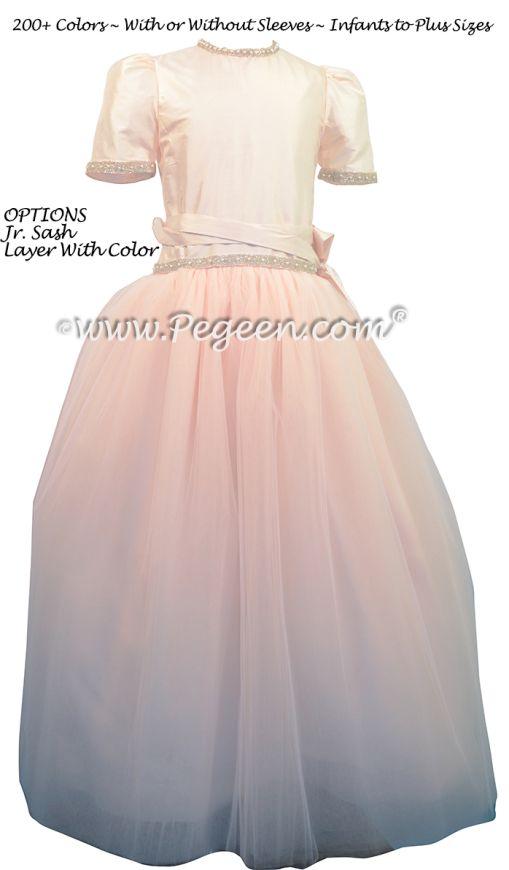 Junior Bridesmaid Style 931 Petal Pink