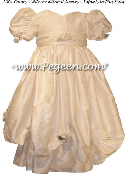 Flower Girl Dress Style 968 shown in New Ivory - one of 200+ colors