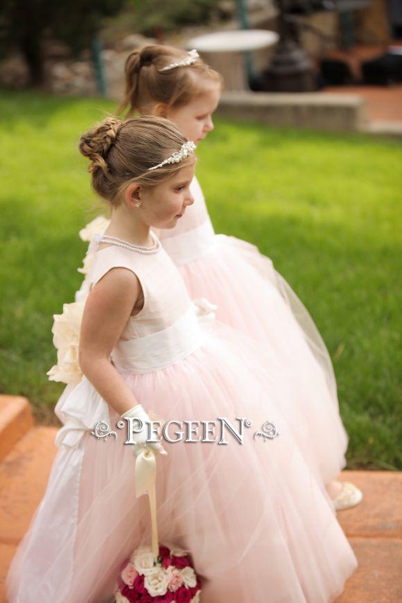 402 Blush Pink Flower GIrl Dress