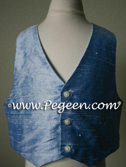 Boys Solid Silk Vests by Pegeen