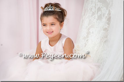 Pink and ivory tulle flower girl dress wedding of the year